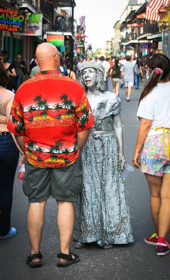 Ejecutantes de la calle de New Orleans imagen de archivo