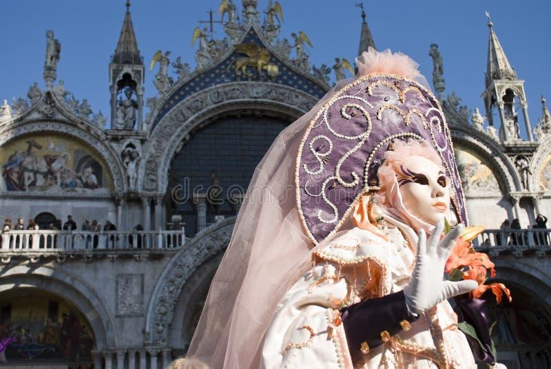 Ejecutantes del carnaval de Venecia fotos de archivo