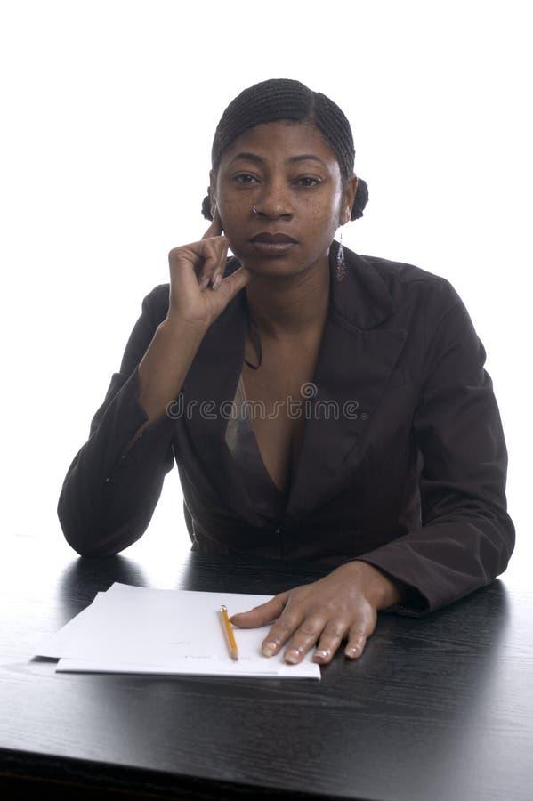 Ejecutivo de sexo femenino negro foto de archivo