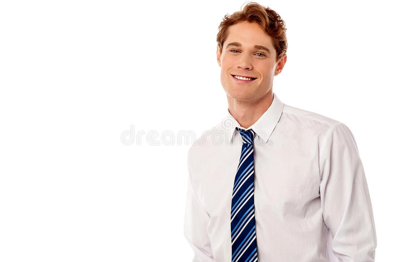 Ejecutivo de sexo masculino corporativo feliz foto de archivo