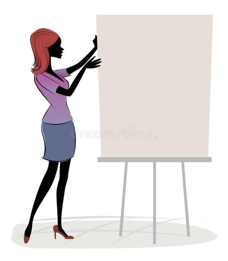 Ejecutivo de ventas ilustración del vector