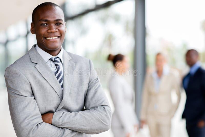 ejecutivo negro del hombre de negocios foto de archivo