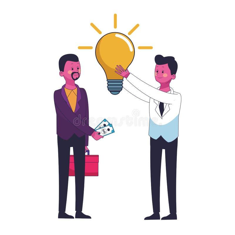 Ejecutivos de los compañeros de trabajo del negocio stock de ilustración