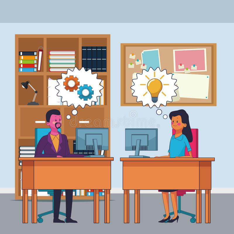 Ejecutivos de los compañeros de trabajo del negocio libre illustration