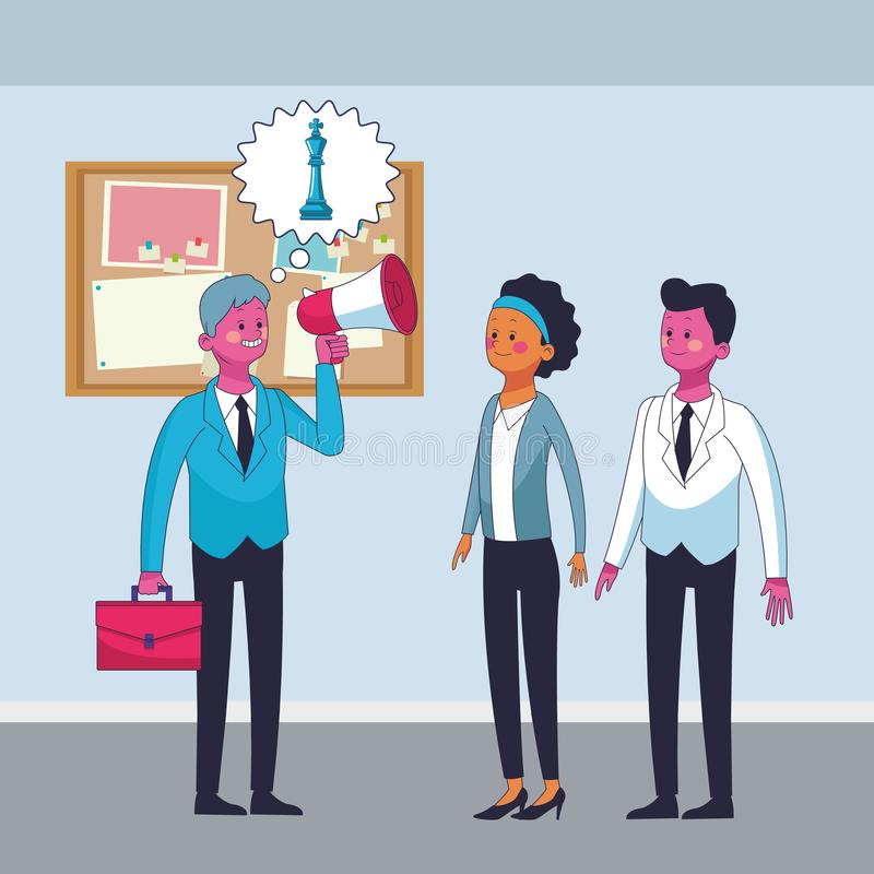 Ejecutivos de los compañeros de trabajo del negocio ilustración del vector