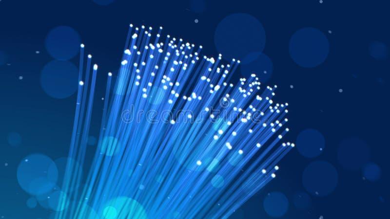 Ejemplo óptico chispeante de la fibra libre illustration