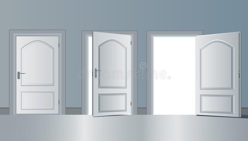 Ejemplo abierto del diseño del vector de la puerta ilustración del vector