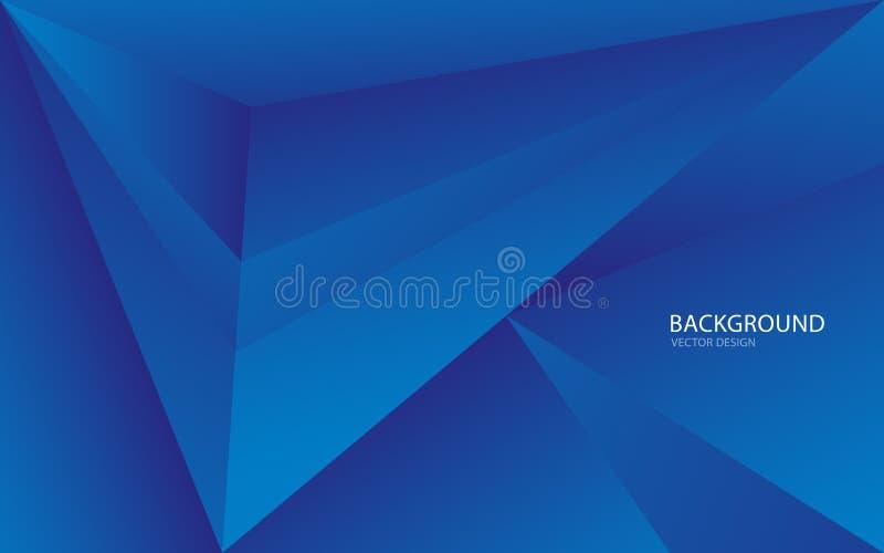 Ejemplo abstracto azul del vector del fondo Pared Bandera del Web cubierta tarjeta Textura wallpaper Aviador folleto Informe anua libre illustration
