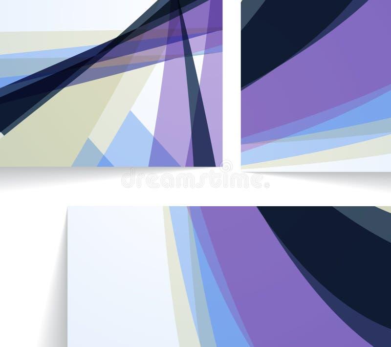 Ejemplo abstracto, composición colorida. stock de ilustración