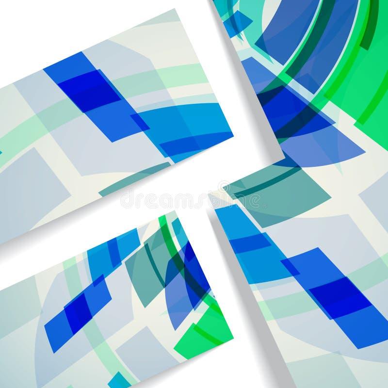 Ejemplo abstracto, composición colorida. ilustración del vector