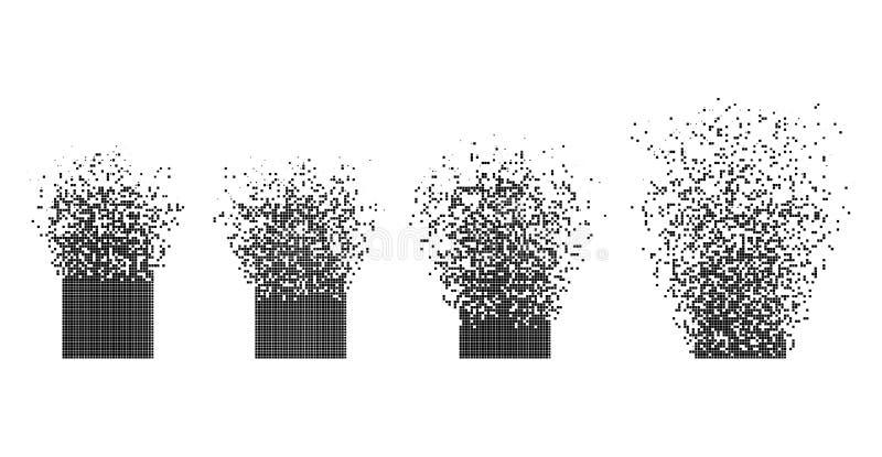 Ejemplo abstracto de la disipación plana del rectángulo del vector stock de ilustración