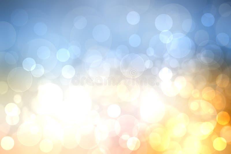 Ejemplo abstracto de la puesta del sol Tarde o textura abstracta del fondo del humor de la puesta del sol con el bokeh coloreado  stock de ilustración