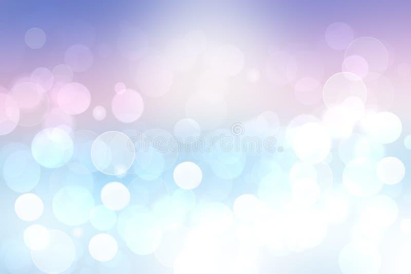 Ejemplo abstracto de la puesta del sol Tarde o textura abstracta del fondo del humor de la puesta del sol con el océano azul clar ilustración del vector