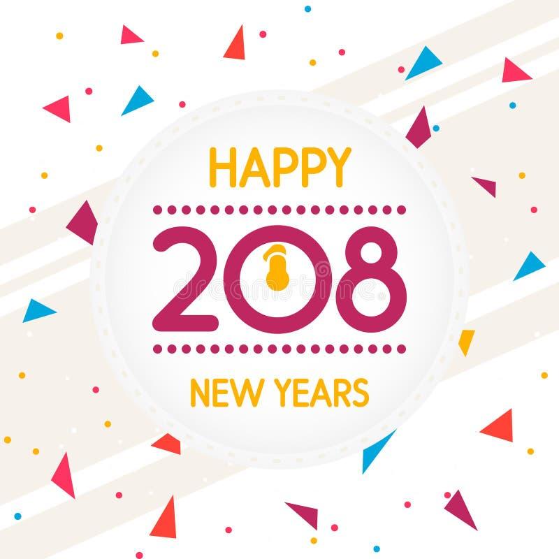 Ejemplo abstracto de la tarjeta o del fondo de felicitación de la Feliz Año Nuevo libre illustration