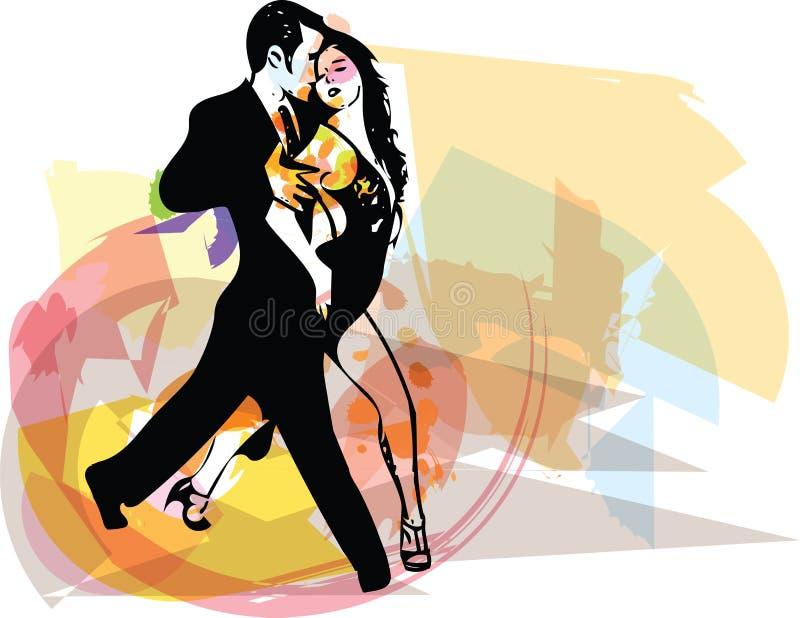 Ejemplo abstracto de los pares del baile del Latino stock de ilustración