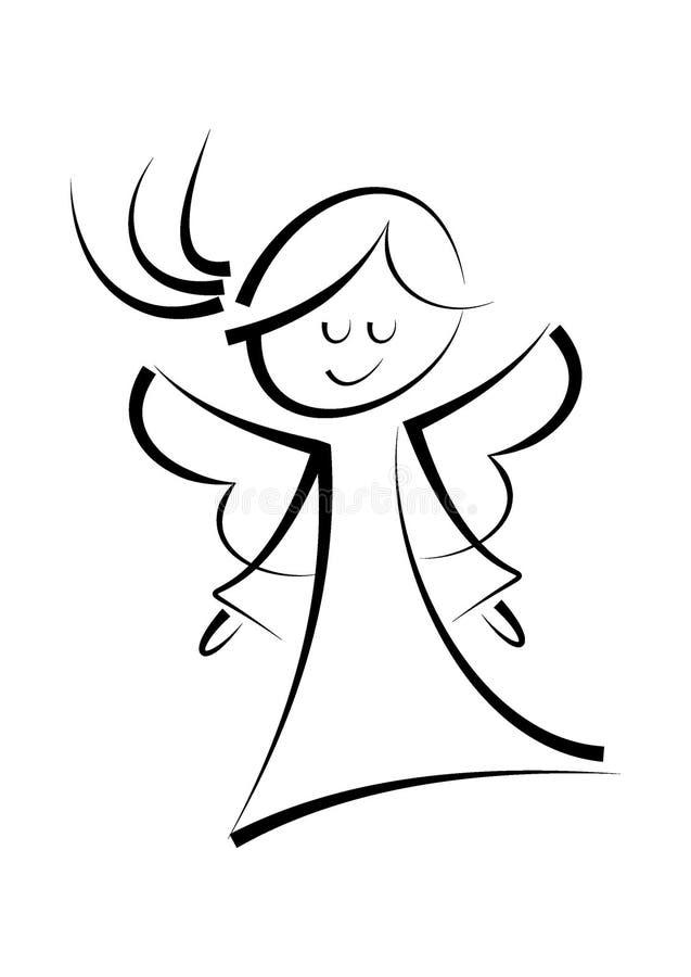 Ejemplo abstracto del ángel feliz libre illustration