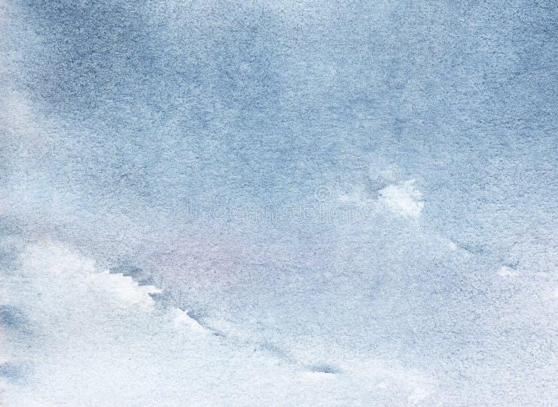 Ejemplo abstracto del cielo ligero Textura del papel de la acuarela, imagen de archivo
