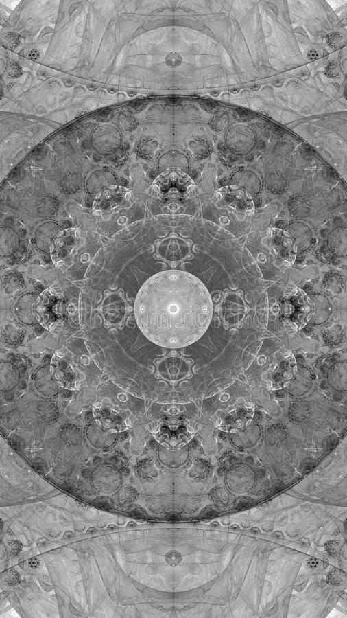 Ejemplo abstracto del fractal para el diseño creativo stock de ilustración