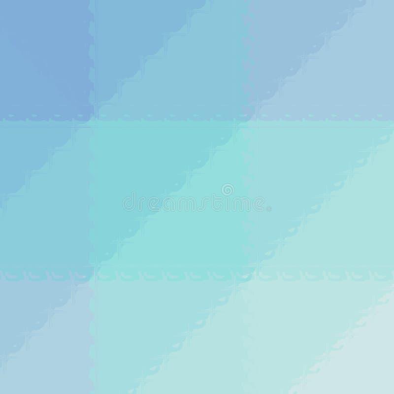 Ejemplo abstracto del mosaico azul y verde cuadrado a través del fondo de los ladrillos de cristal, digital generado ilustración del vector