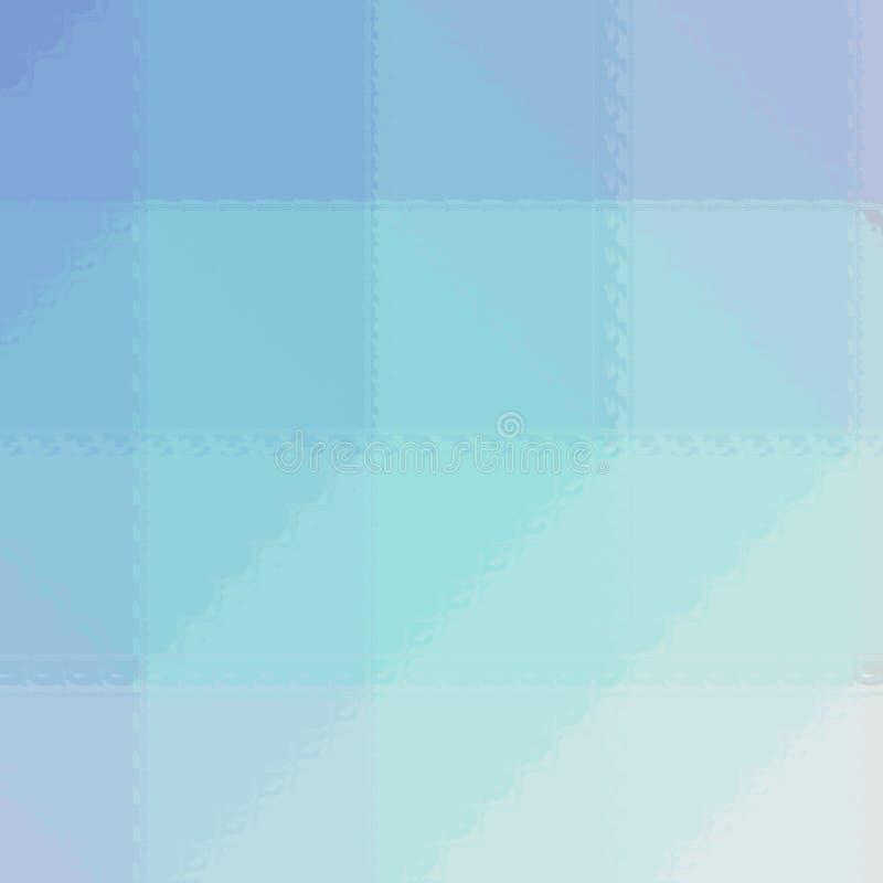Ejemplo abstracto del mosaico blanco y rojo azul cuadrado del gree a través del fondo de los ladrillos de cristal, digital genera libre illustration