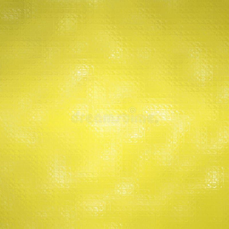 Ejemplo abstracto del mosaico colorido del peridot cuadrado a través del fondo de los ladrillos de cristal, digital generado ilustración del vector