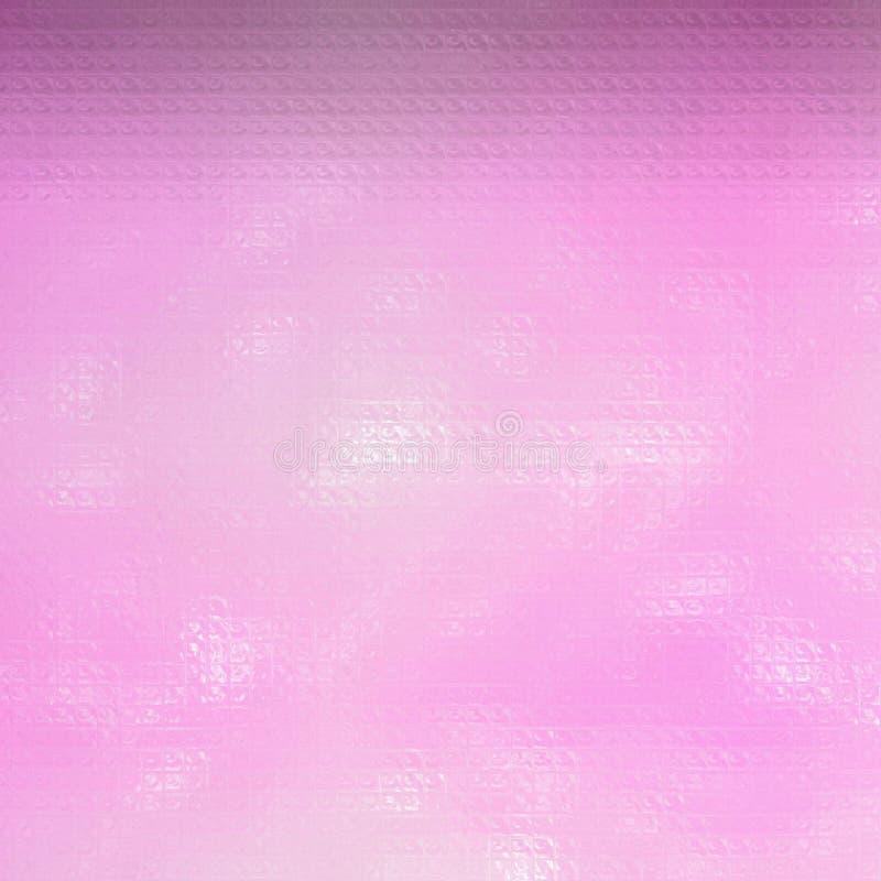 Ejemplo abstracto del mosaico colorido rosado cuadrado a través del fondo de los ladrillos de cristal, digital generado libre illustration
