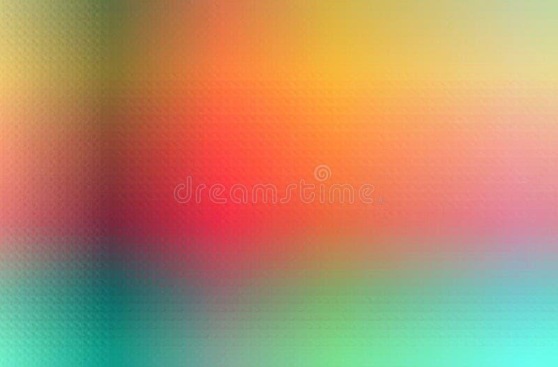 Ejemplo abstracto del mosaico en colores pastel amarillo, rojo, verde y azul a través del fondo de los ladrillos de cristal ilustración del vector