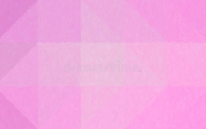 Ejemplo abstracto del mosaico en colores pastel rosado a través del fondo de los ladrillos de cristal, digital generado ilustración del vector