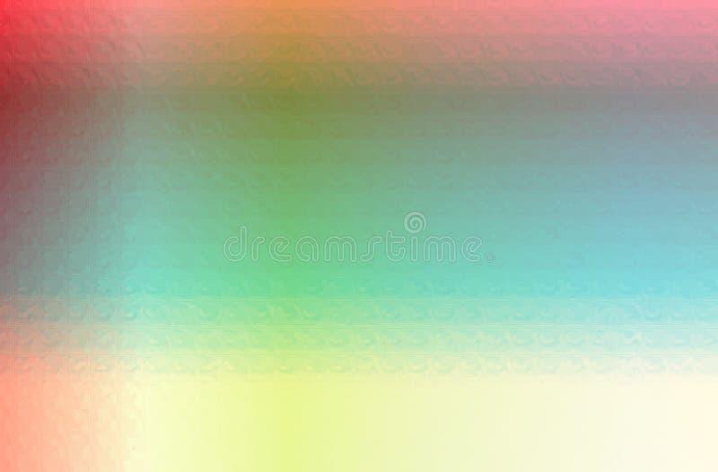 Ejemplo abstracto del mosaico rojo, azul y amarillo del polígono del triángulo a través del fondo de los ladrillos de cristal stock de ilustración
