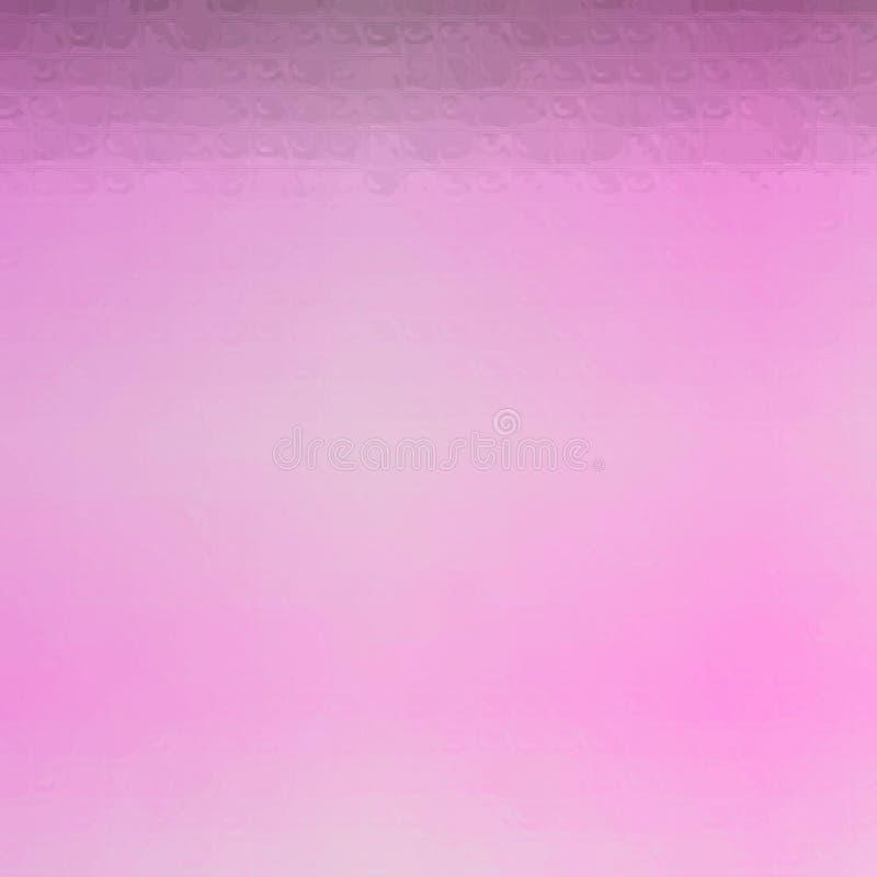 Ejemplo abstracto del mosaico rosado cuadrado a través del fondo de los ladrillos de cristal, digital generado libre illustration