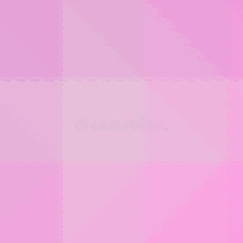 Ejemplo abstracto del mosaico rosado cuadrado a través del fondo de los ladrillos de cristal, digital generado stock de ilustración
