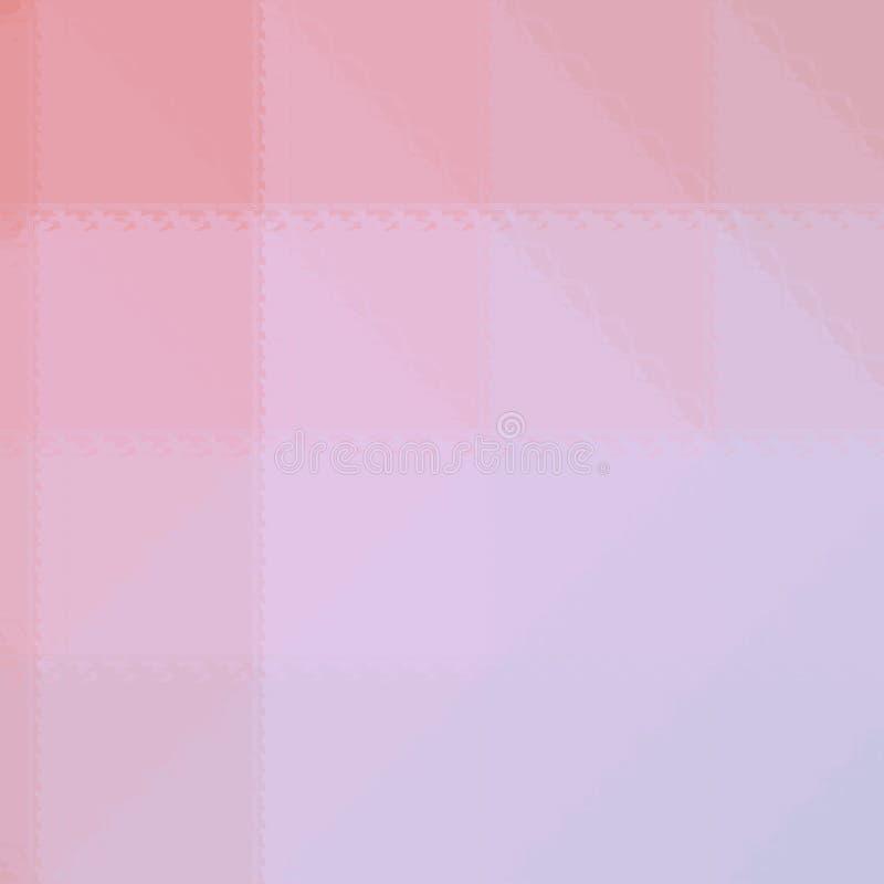 Ejemplo abstracto del mosaico rosado y azul cuadrado a través del fondo de los ladrillos de cristal, digital generado ilustración del vector