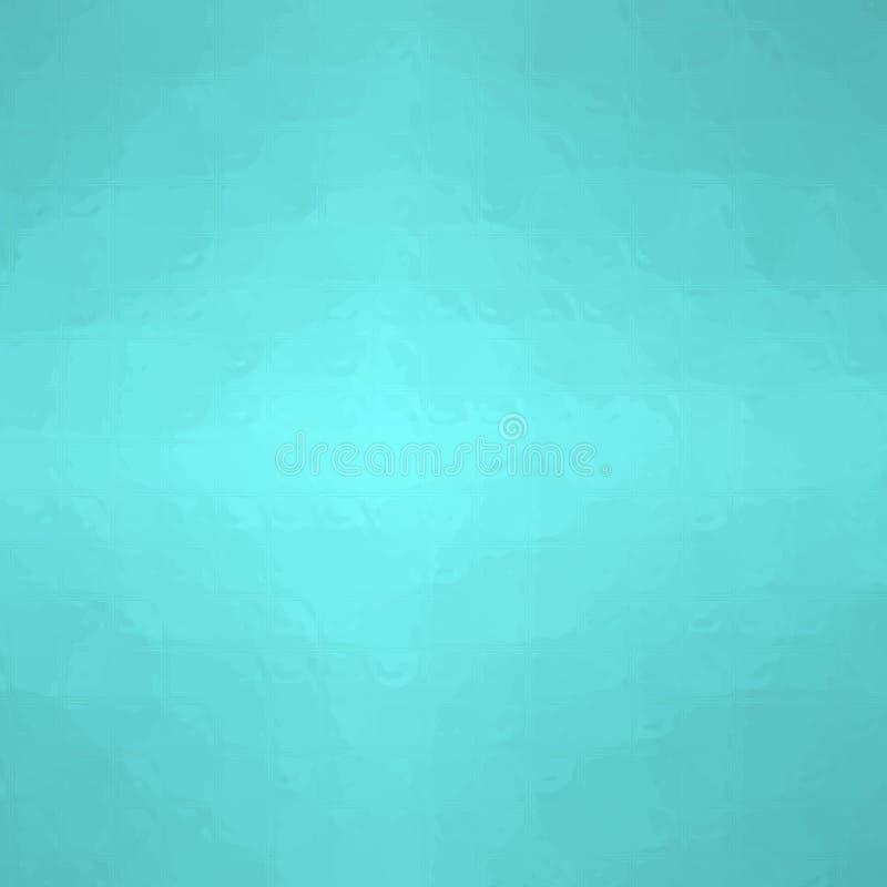 Ejemplo abstracto del mosaico seprent del mar cuadrado a través del fondo de los ladrillos de cristal, digital generado stock de ilustración