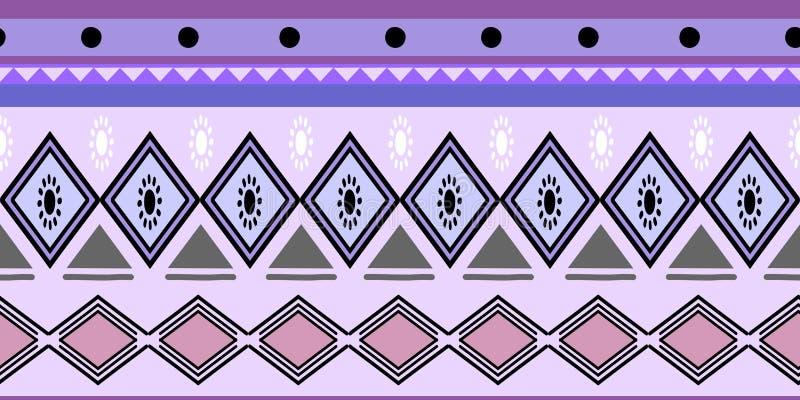 Ejemplo abstracto del vector del africano del modelo del fondo azteca bohemio inconsútil étnico tribal colorido de los modelos li ilustración del vector