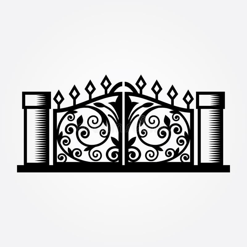 Ejemplo abstracto del vector de la puerta ilustración del vector