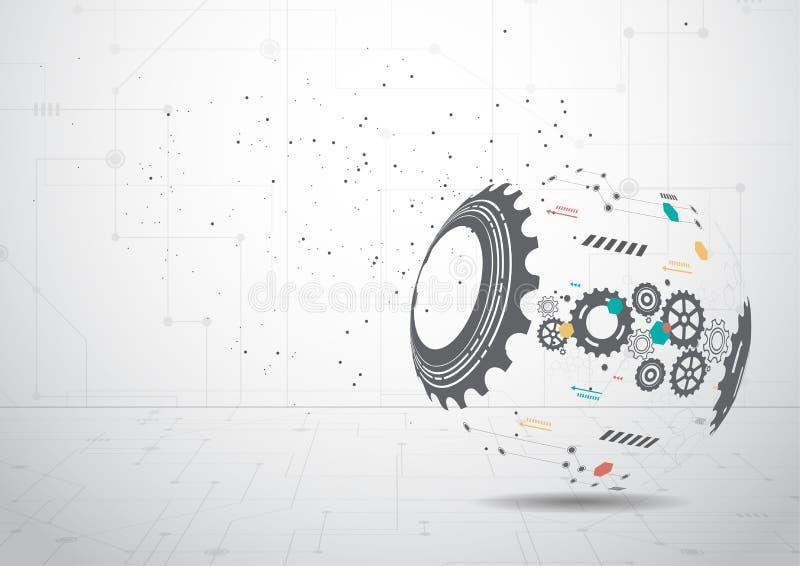 Ejemplo abstracto del vector del fondo de la tecnología ilustración del vector
