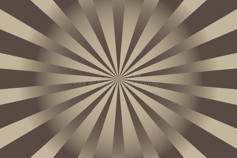 Ejemplo abstracto del vector del fondo del resplandor solar ilustración del vector