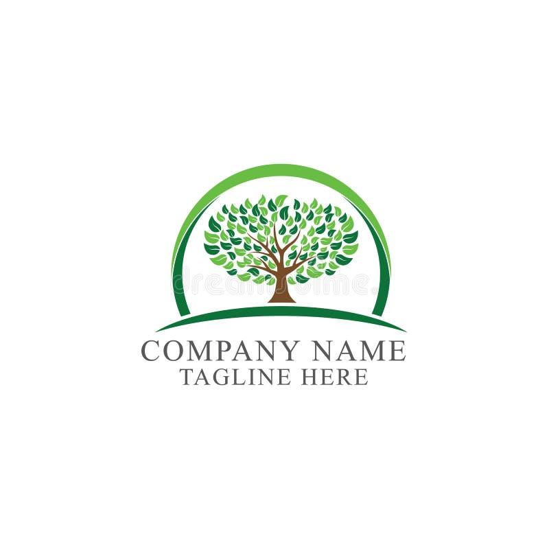 Ejemplo abstracto del vector del logotipo del árbol stock de ilustración