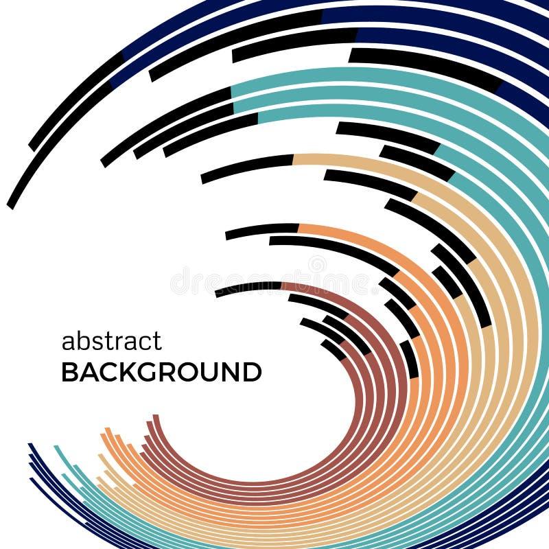 Ejemplo abstracto del vector que representa círculos coloreados en un fondo blanco libre illustration