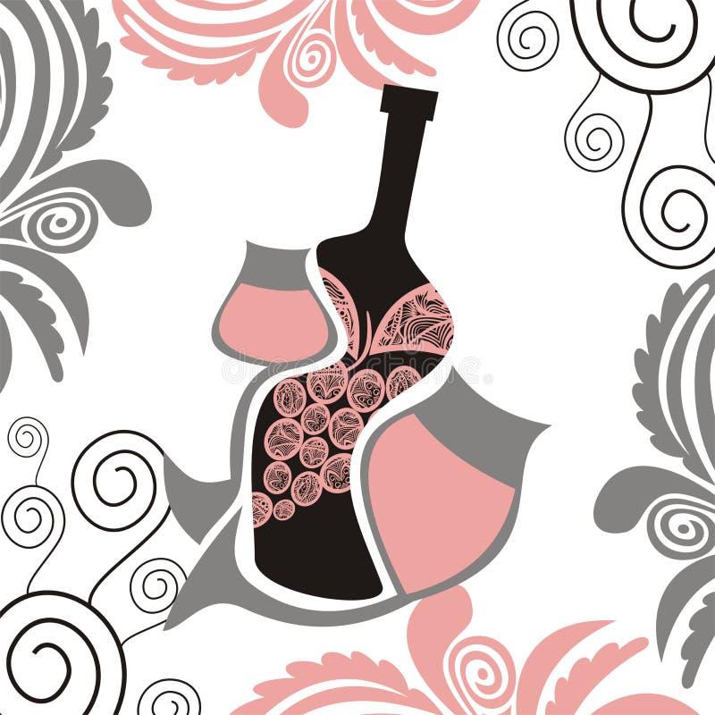 Ejemplo abstracto del vino stock de ilustración