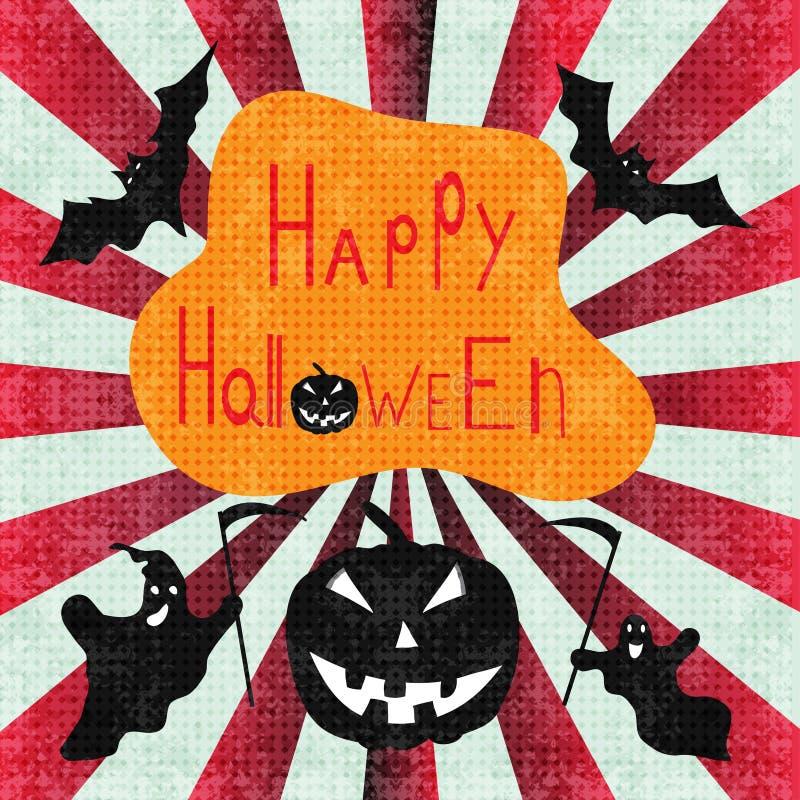 Ejemplo abstracto festivo del vector del fondo del feliz Halloween libre illustration