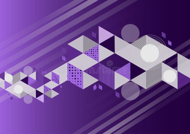 Ejemplo abstracto geométrico del vector del fondo del color púrpura con el espacio de la copia stock de ilustración