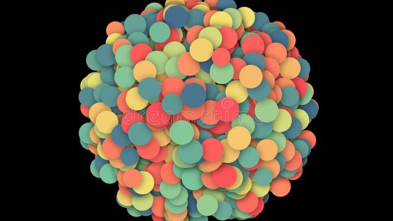 Ejemplo abstracto hermoso y que sorprende de los círculos coloridos libre illustration