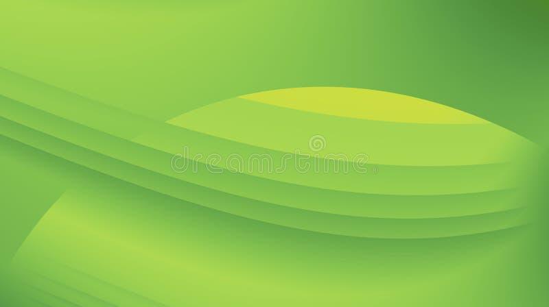 Ejemplo abstracto moderno verde enorme del fondo del fractal stock de ilustración