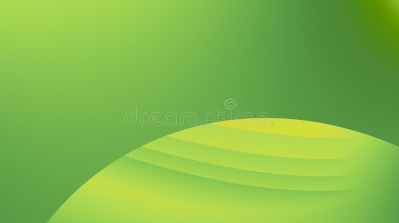 Ejemplo abstracto moderno verde enorme del fondo del fractal con las curvas paralelas en un círculo Espacio del texto Pocilga pro stock de ilustración