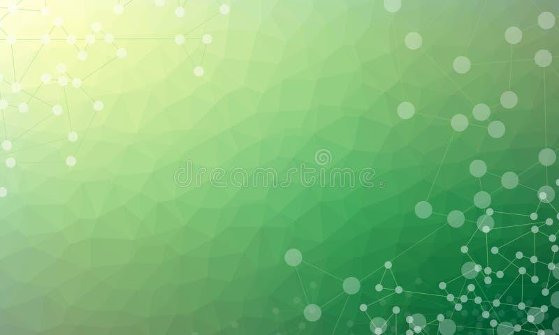 Ejemplo abstracto polivinílico poligonal o bajo del vector del fondo stock de ilustración