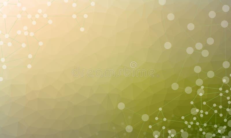 Ejemplo abstracto polivin?lico poligonal o bajo del vector del fondo libre illustration
