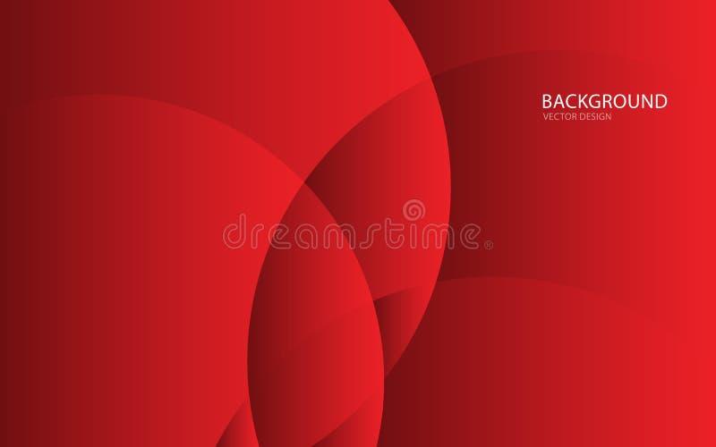 Ejemplo abstracto rojo del vector del fondo Pared Bandera del Web cubierta tarjeta Textura stock de ilustración
