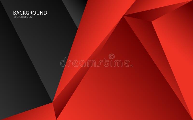 Ejemplo abstracto rojo del vector del fondo Pared Bandera del Web cubierta tarjeta Textura wallpaper Aviador stock de ilustración