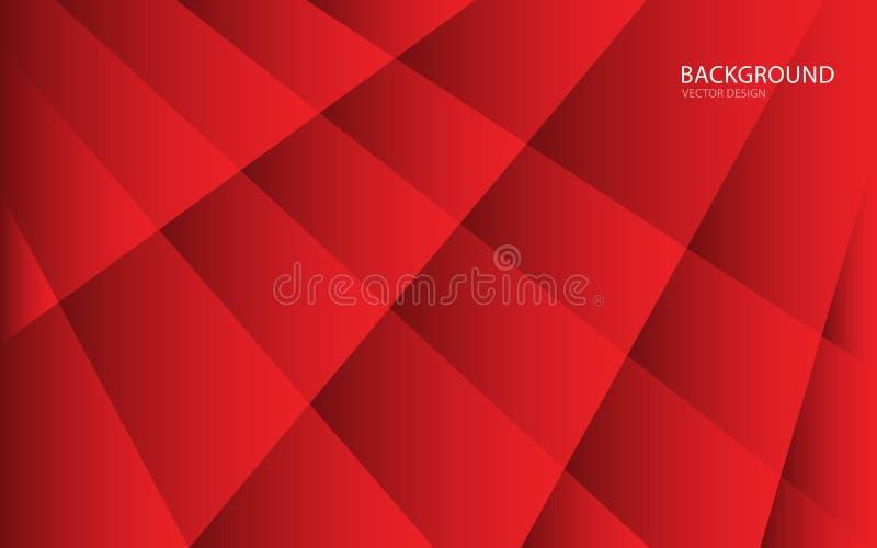 Ejemplo abstracto rojo del vector del fondo Pared Bandera del Web cubierta tarjeta Textura wallpaper Aviador folleto Informe anua stock de ilustración